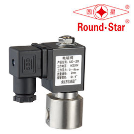 Stainless Steel Miniature Solenoid Valve Normally Open NO 24vdc NPT Thread