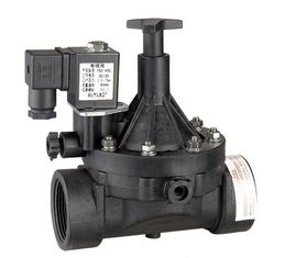 "Normally Open NO Latching Solenoid Valve 3/4""Plastic For Irrigation System"