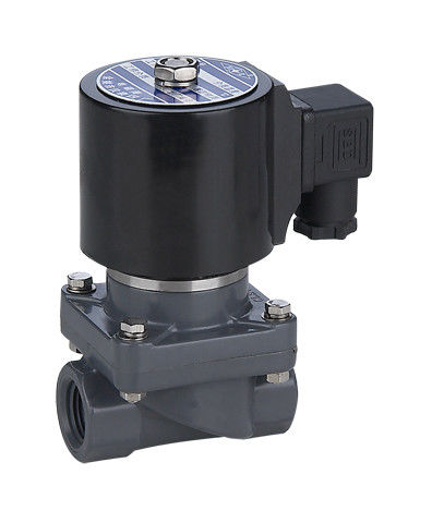 "Normally Closed 24VDC 3/4""Plastic Solenoid Valves For Water Anti Corrosive"