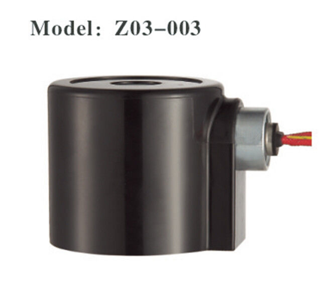 Black Waterproof Plastic Solenoid Valve Coil AC220V DC24V Normal Thermoset
