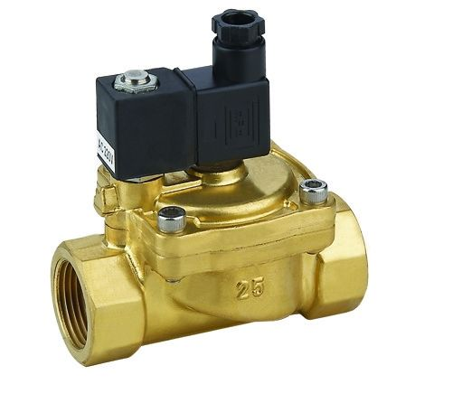 Brass 1/2 Inch Pilot Operated Electric Solenoid Valve Normally Closed DC24V / 12V