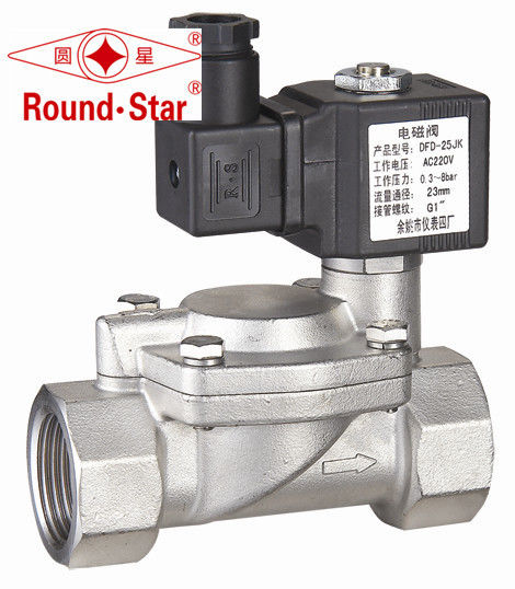 High Reliability Stainless Steel Diaphragm Solenoid Valve For Water / Liquid / Gas